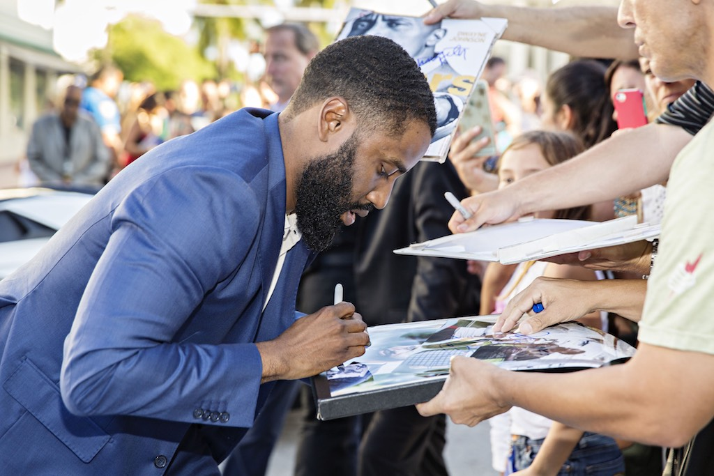 John David Washington at the Ballers Season 2 Premiere Red Carpet
