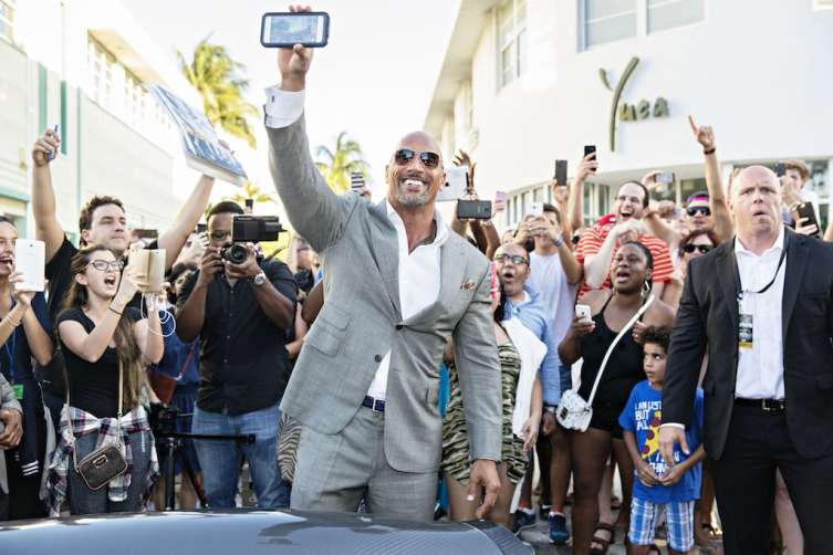 "Dwayne ""The Rock"" Johnson at the Ballers Season 2 Premiere Red Carpet"