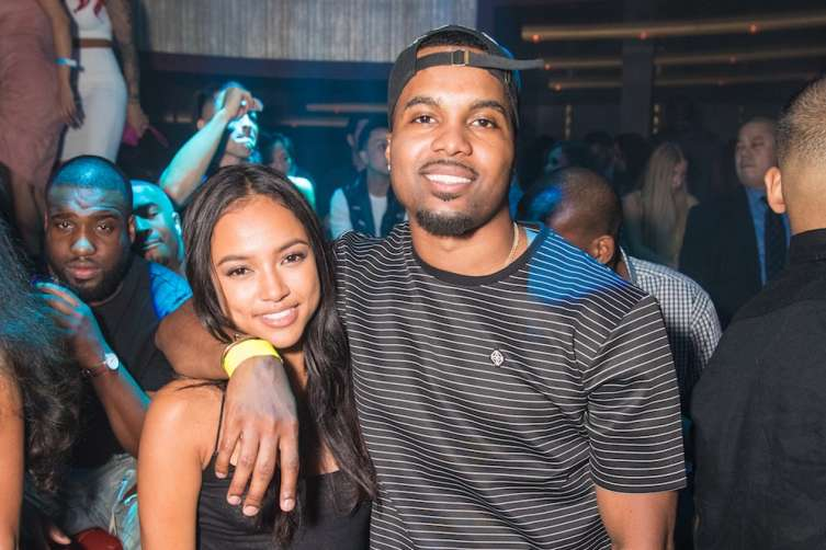 Karrueche Tran and Steelo Brim at Jewel Nightclub.