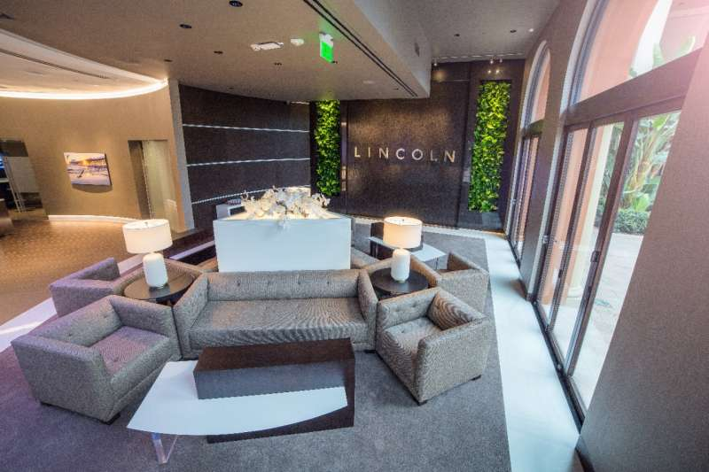 Visitors can relax in comfort in the center while learning more about the Lincoln brand.