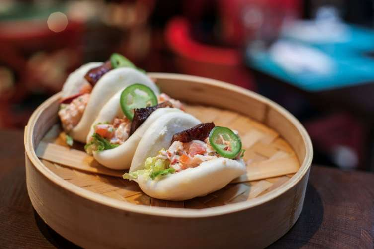 Lobster BLT Steamed Buns_David Burke fabrick