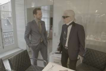 RE Derek with Karl Lagerfeld
