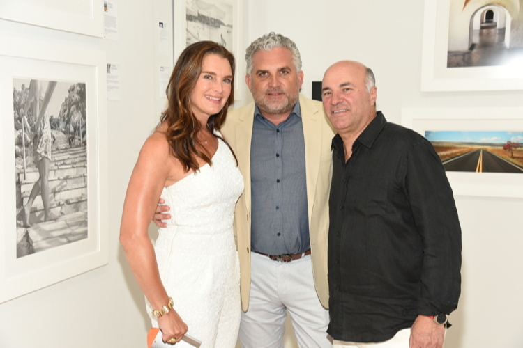 Brooke Shields, Nick Korniloff, and Kevin O'Leary
