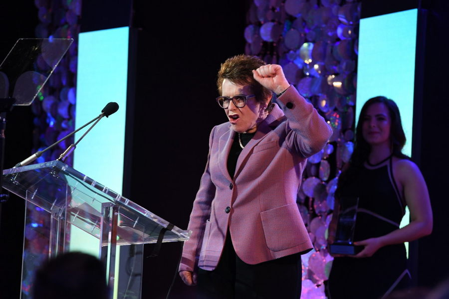 Billie Jean King during The Sports Humanitarian Awards presented by ESPN