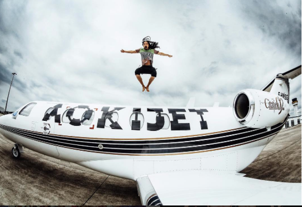 Steve Aoki on his Aokijet Citation CJ2 this July via @steveaoki