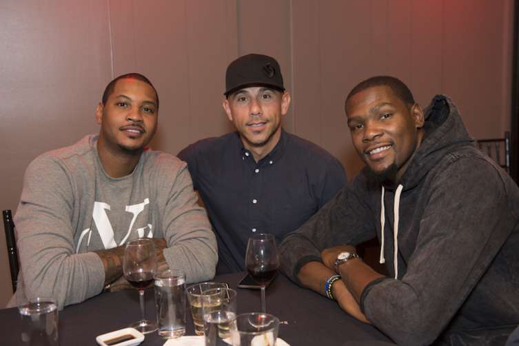 Carmelo Anthony, Billy Dec and Kevin Durant