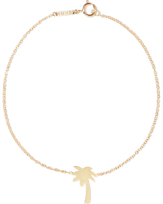 Mini Palm Tree 18-karat gold bracelet, $350