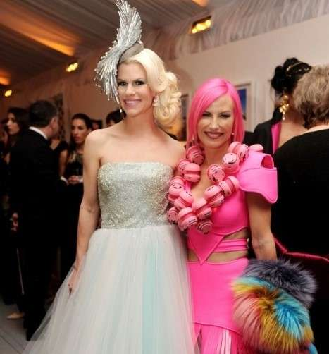 "Suzy Buckley Woodward with Alexa Wolman in her ""Sonic Dress"""
