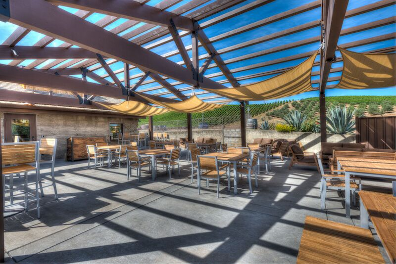 The patio at Murrieta's Well