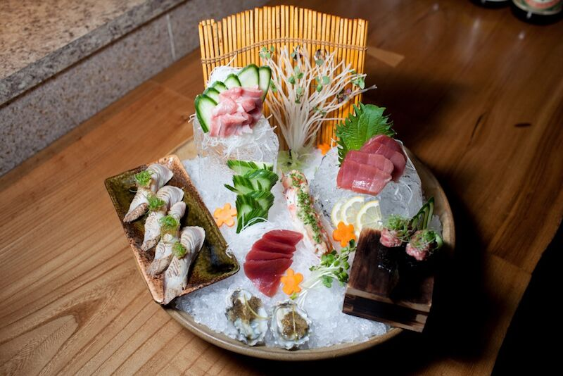 The deluxe sashimi platter at Roka Akor