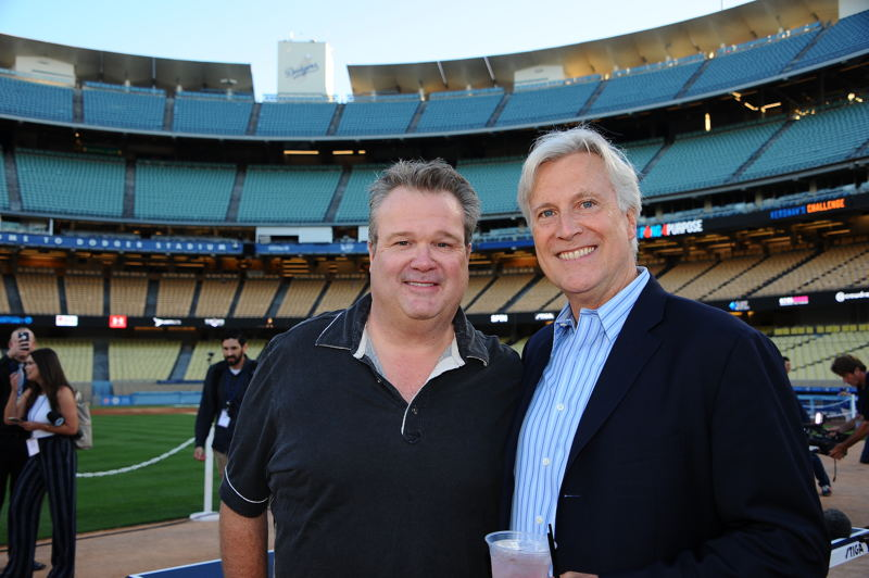 Eric Stonestreet with Dodgers Chairman and Owner Mark Walter