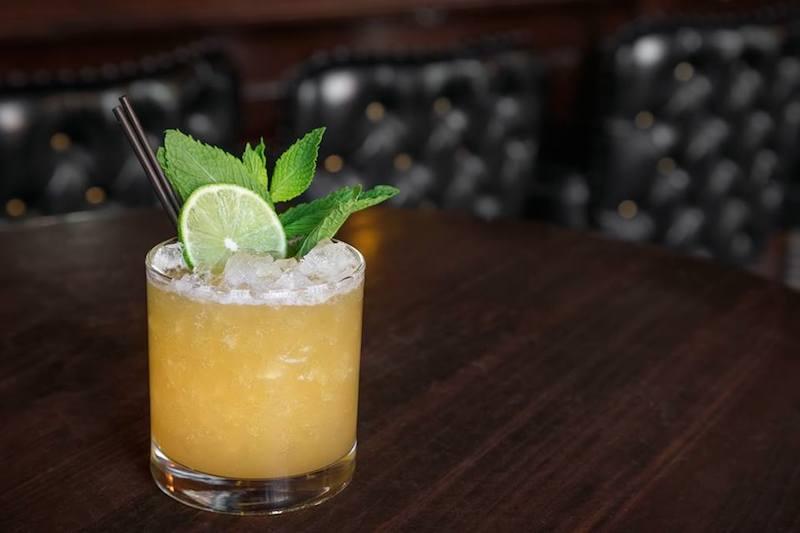 A cocktail at Elixir