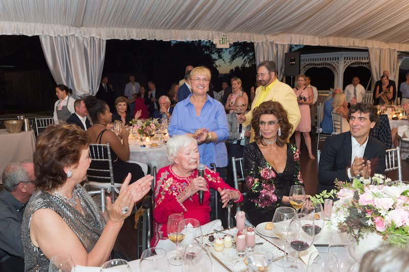 Margrit Mondavi, Sophia Loren, and Carlo Ponti Jr.