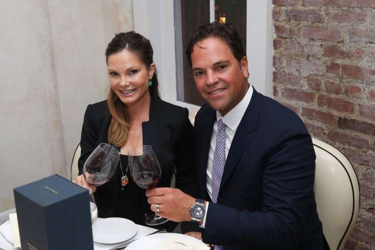 Mike Piazza and wife Alicia Rickter Piazza attend 'Haute Living Honors Mike Piazza' dinner event presented by Johnnie Walker Blue Label and JetSmarter at Mamo on July 31, 2016 in New York City. (Photo by Rob Kim/Getty Images)