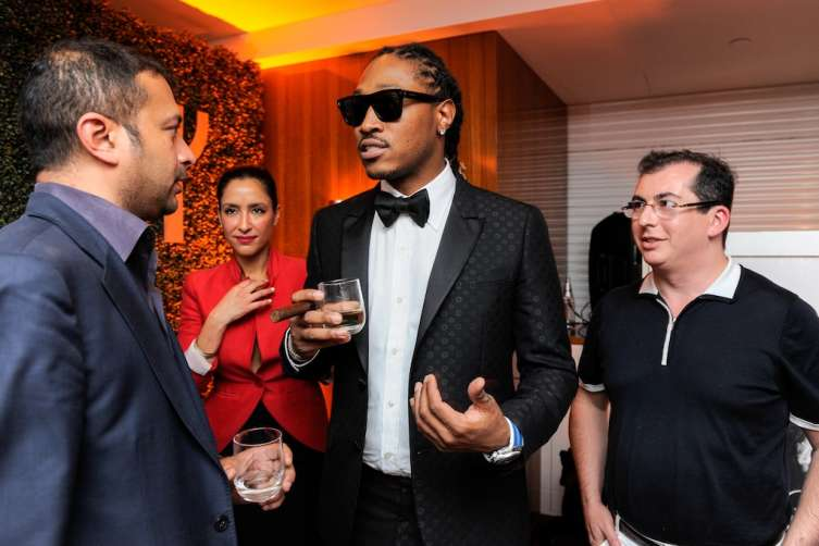 Kamal Hotchandani, artist Future Hendrix aka Future and Gennady Barsky, the President of Jetsmarter