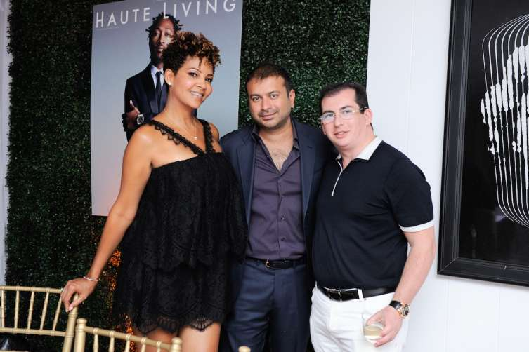 Tracy Mourning, Kamal Hotchandani and Gennady Barsky