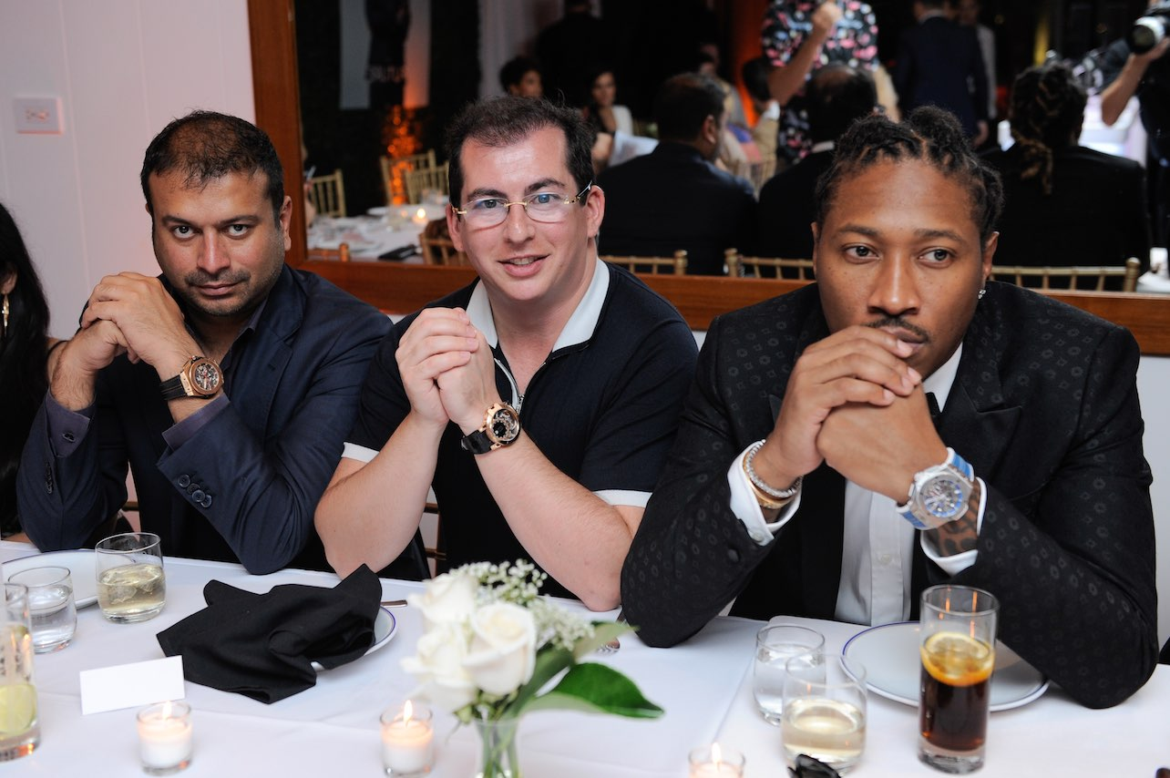 Kamal Hotchandani, Gennady Barsky and Future Hendrix aka Future attend Haute Living cover launch party for Future Hendrix presented by Hublot and Jetsmarter at Cipriani Downtown Miami on August 29, 2016 in Miami, Florida. (Photo by Sergi Alexander/Getty Images)