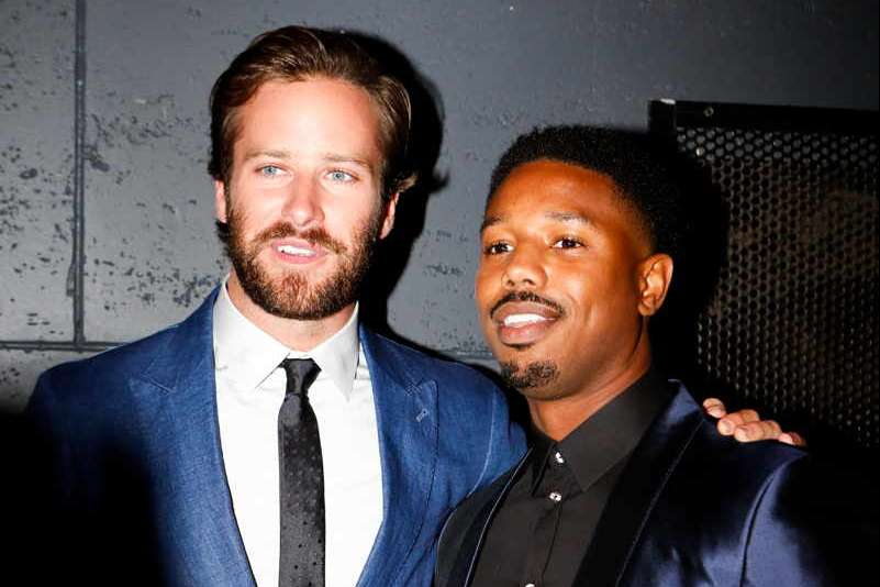 Armie Hammer and Michael B Jordan