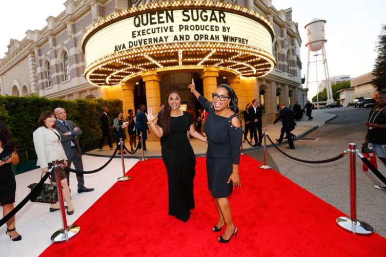Executive producer/creator Ava DuVernay (L) and executive producer Oprah Winfrey attend OWN: Oprah Winfrey Network's Queen Sugar premiere