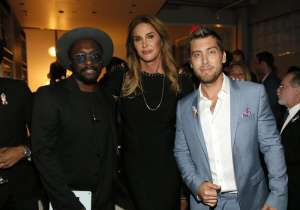 will.i.am, Caitlyn Jenner and Lance Bass attend onePULSE: A Benefit for Orlando at NeueHouse Hollywood on Friday, Aug. 19, 2016, in Los Angeles. (Photo by Danny Moloshok/Invision for onePulse Foundation/AP Images)