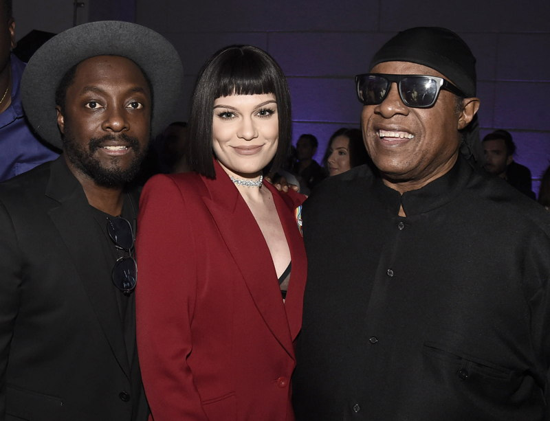 will.i.am, Jessie J and Stevie Wonder attend onePULSE: A Benefit for Orlando at NeueHouse Hollywood