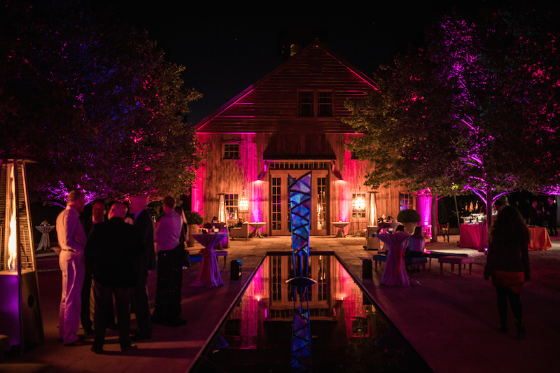 Nickel and Nickel winery lit up for the gala