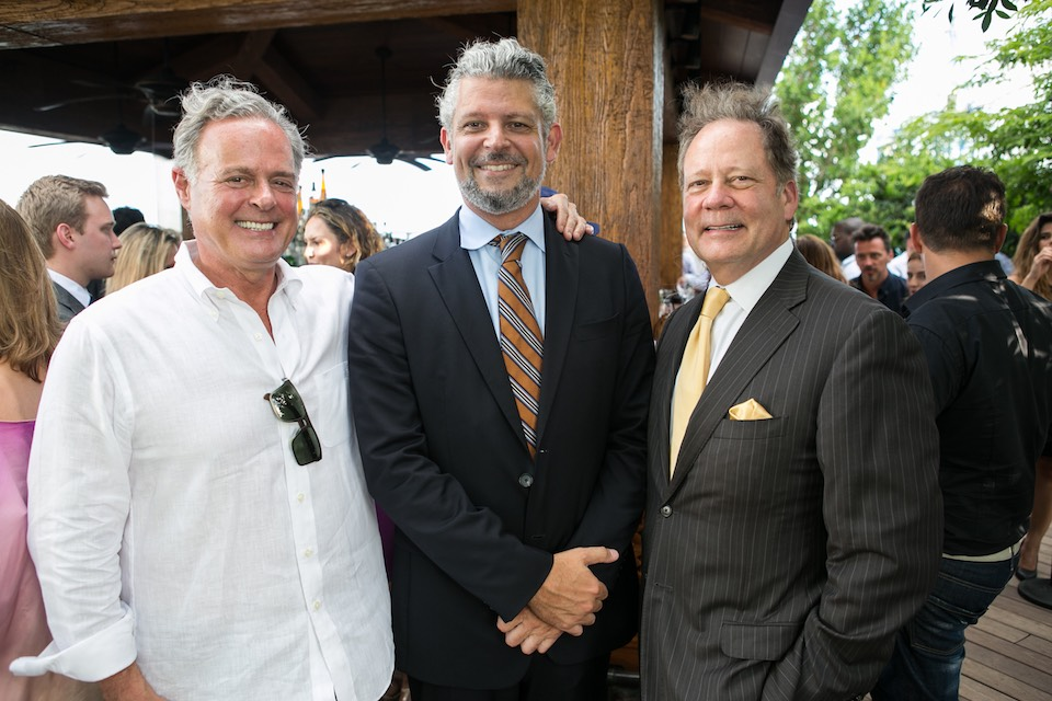 David Staples, Javier Cuadros, Allen Morris at SLS LUX's VIP Cocktail Party at EAST Miami