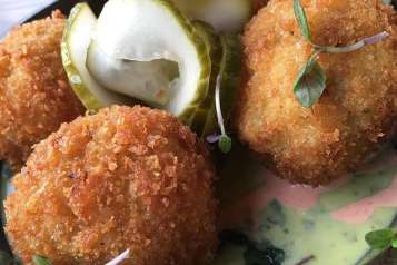 Beaker and Gray cheeseburger croquette