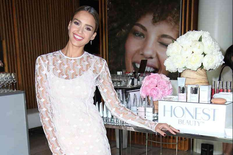 Jessica Alba celebrates the launch of Honest Beauty