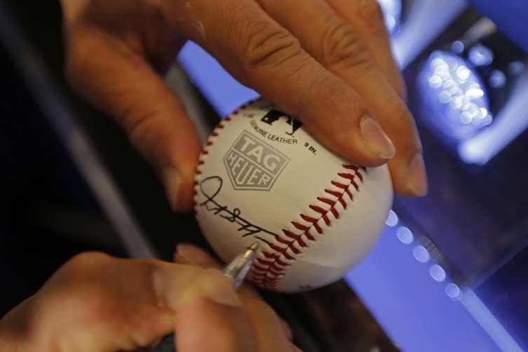 Giancarlo Stanton signing baseball