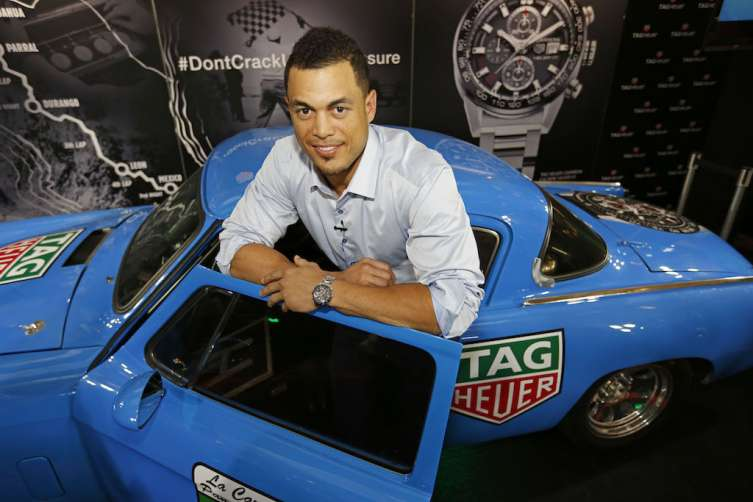 Giancarlo Stanton with 1953 Studebaker