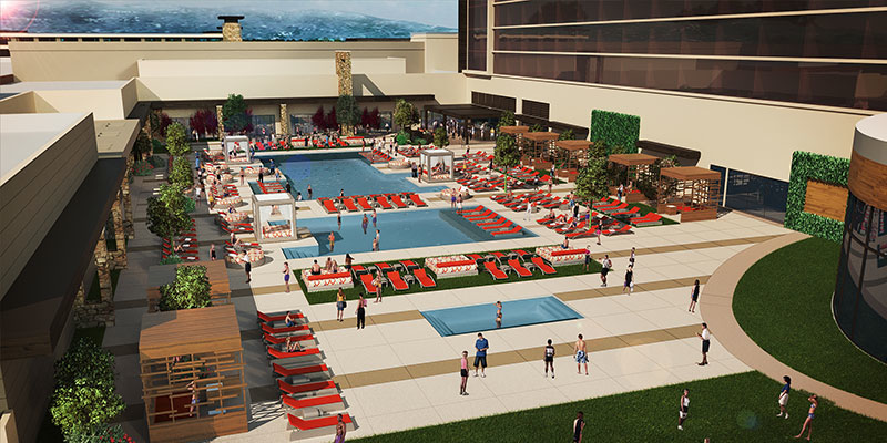 A rendering of the Graton pool