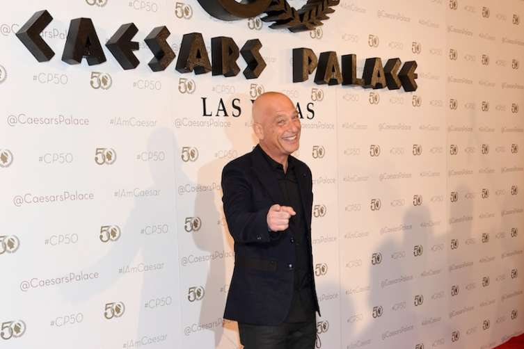 Howie Mandell hams it up on the red carpet at Caesars Palace.