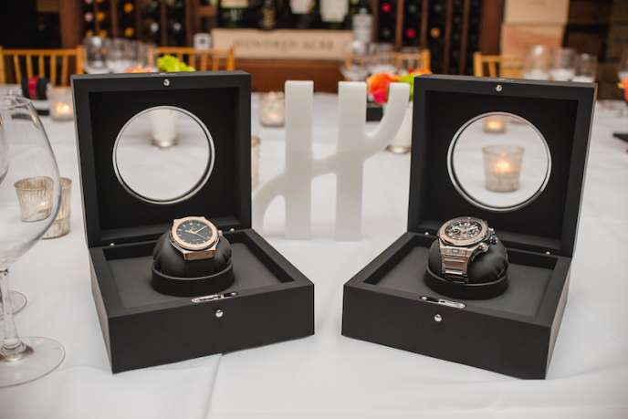 Hublot Timepieces on display at dinner