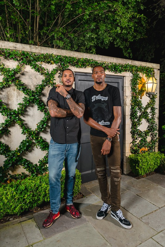 Carmelo Anthony and Kevin Durant with Hublot timepieces