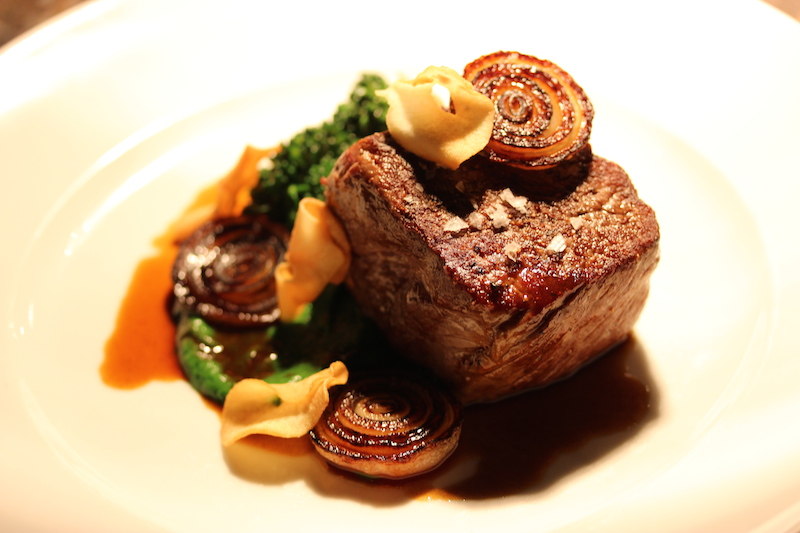 Steak, fresh off the grill