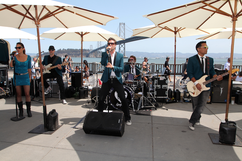 A band at last year's OysterFest