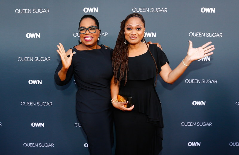 Oprah Winfrey (L) and executive producer/creator Ava DuVernay