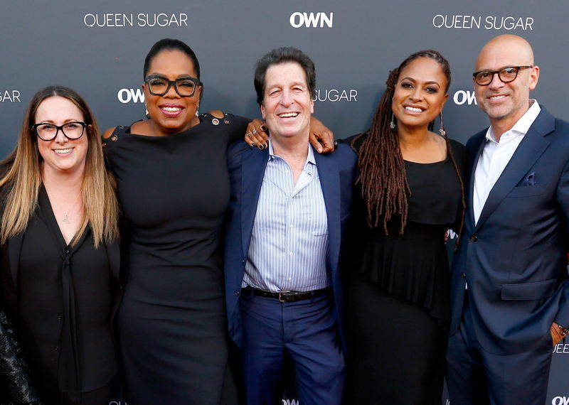 Co-president of Warner Horizon Scripted Television Susan Rovner, executive producer Oprah Winfrey, chief executive of Warner Brothers Television Peter Roth, executive producer/creator Ava DuVernay and co-president of Warner Horizon Scripted Television Brett Paul