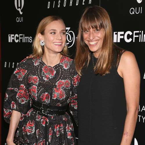 Diane Kruger and director Alice Winocour.