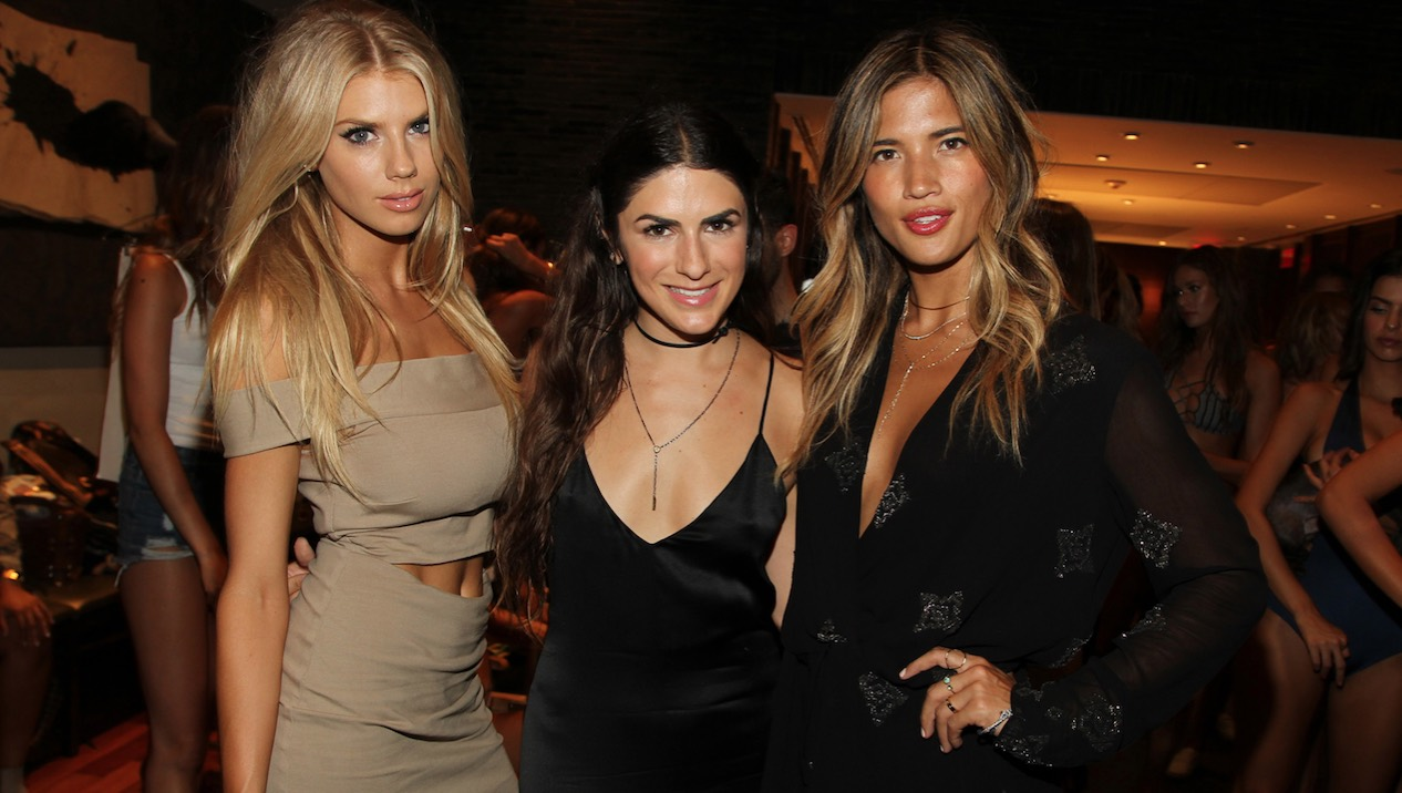 Charlotte McKinney, Rachael Russell and Rocky Barnes at Style Saves Swim 2016