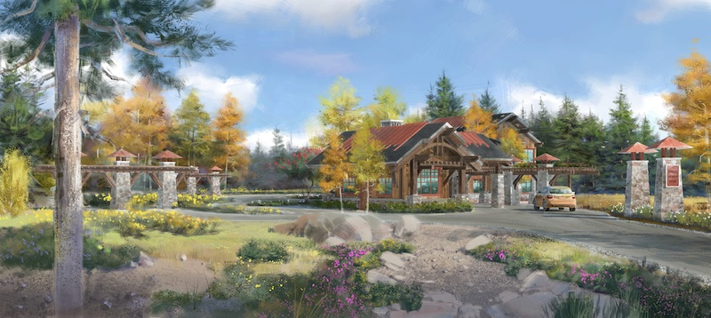 A rendering of the Tahoe Beach Club's gatehouse