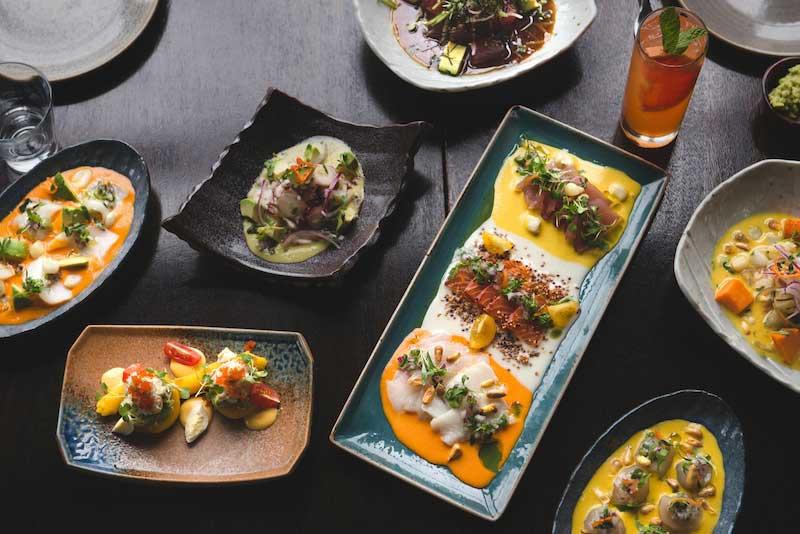 A spread of Peruvian eats at La Mar