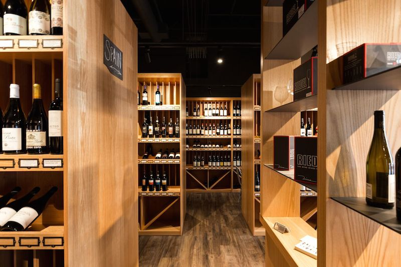 The selection of wine at Flatiron Wines and Spirits