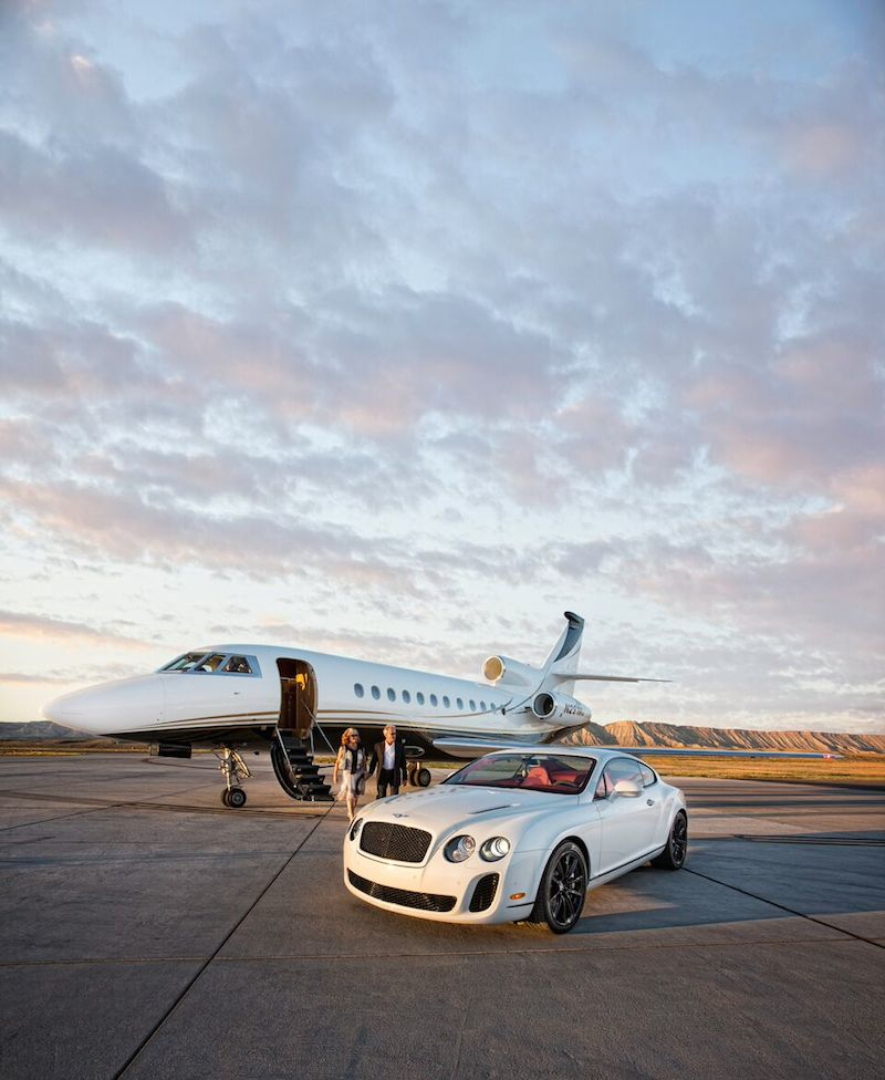 From private jet to Bentley, you'll arrive at the resort in style