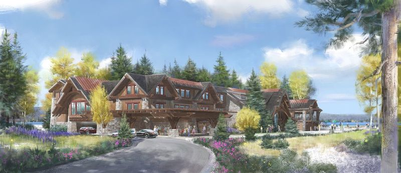 A rendering of the Lake Tahoe Beach Clubhouse