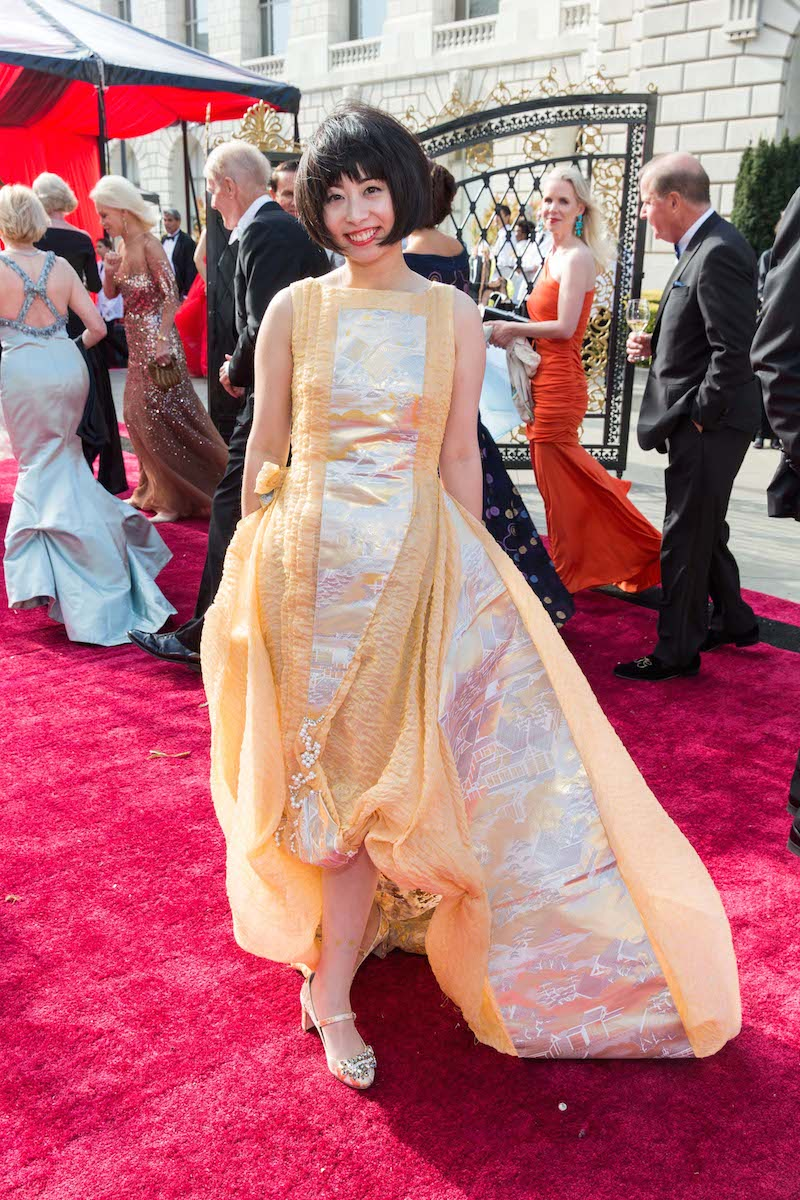Uehara in her own Tokyo Gamine couture dress at last week's Opera Ball