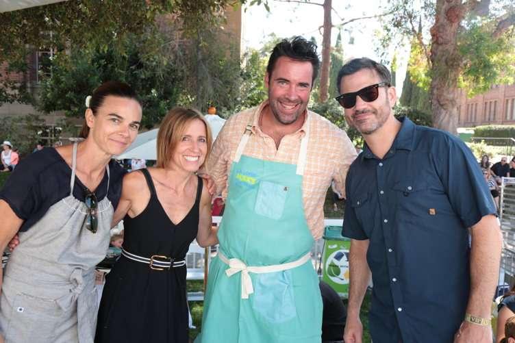 Suzanne Goin, Caroline Styne, David Lentz, Jimmy Kimmel
