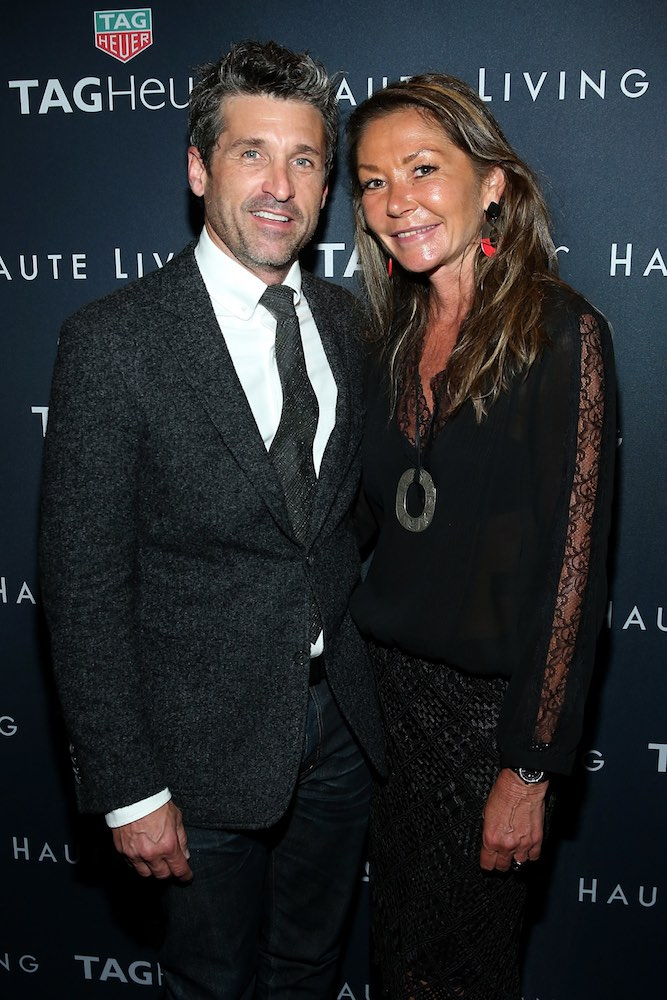 MALIBU, CA - SEPTEMBER 20: (L-R) Patrick Dempsey and Francoise Bezzola attend the Haute Living Cover Launch With Patrick Dempsey And Tag Heuer At Nobu Malibu at Nobu Malibu on September 20, 2016 in Malibu, California. (Photo by Jonathan Leibson/Getty Images for Haute Living)