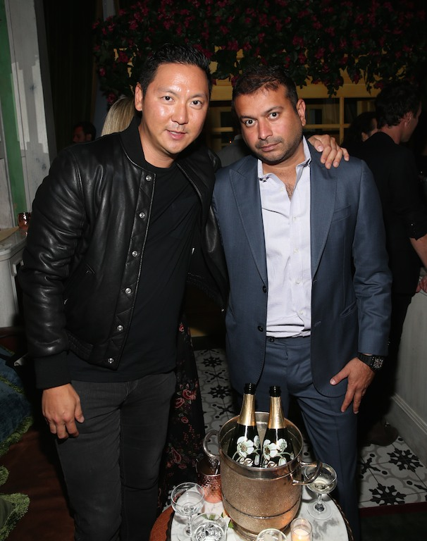 NEW YORK, NY - SEPTEMBER 27: Jason Kim (L) and Haute Living's CEO and Publisher Kamal Hotchandani attend the Haute Living Celebrates Georgina Chapman with Perrier-Jouet and JetSmarter event at Socialista New York on September 27, 2016 in New York City. (Photo by Rob Kim/Getty Images for Haute Living)